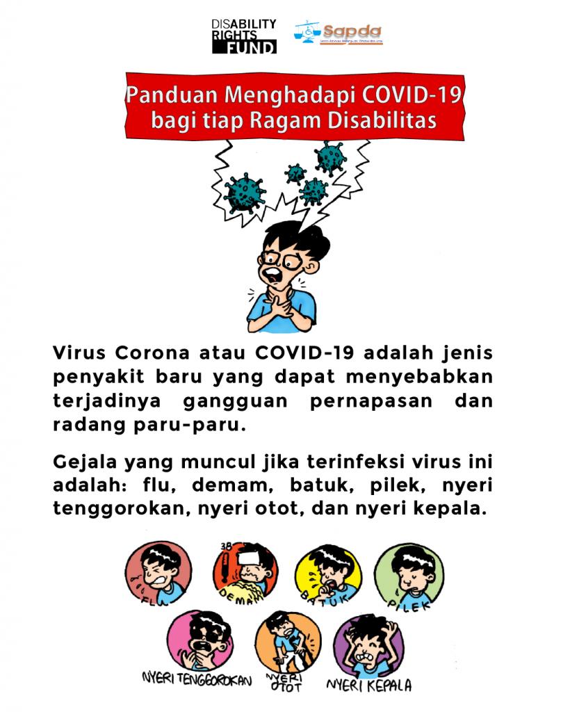 Poster Panduan Menghadapi Covid-19 bagi Penyandang Disabilitas